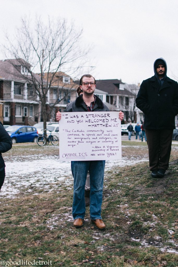 Peaceful Protest Standing in Solidarity with Muslims
