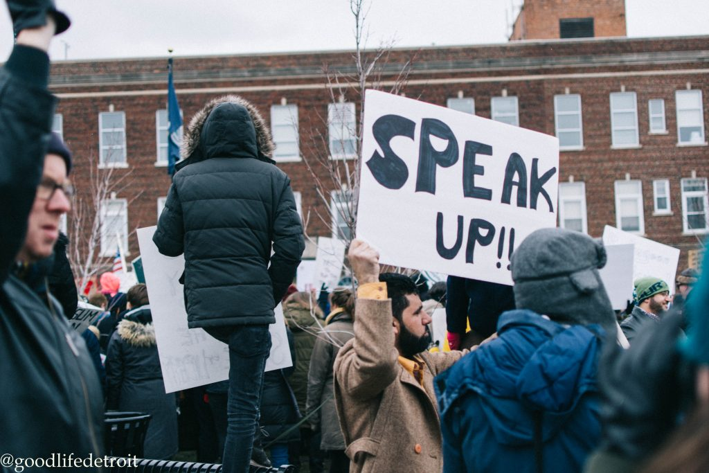 Hamtramck Peaceful Protest Standing in Solidarity with Muslims