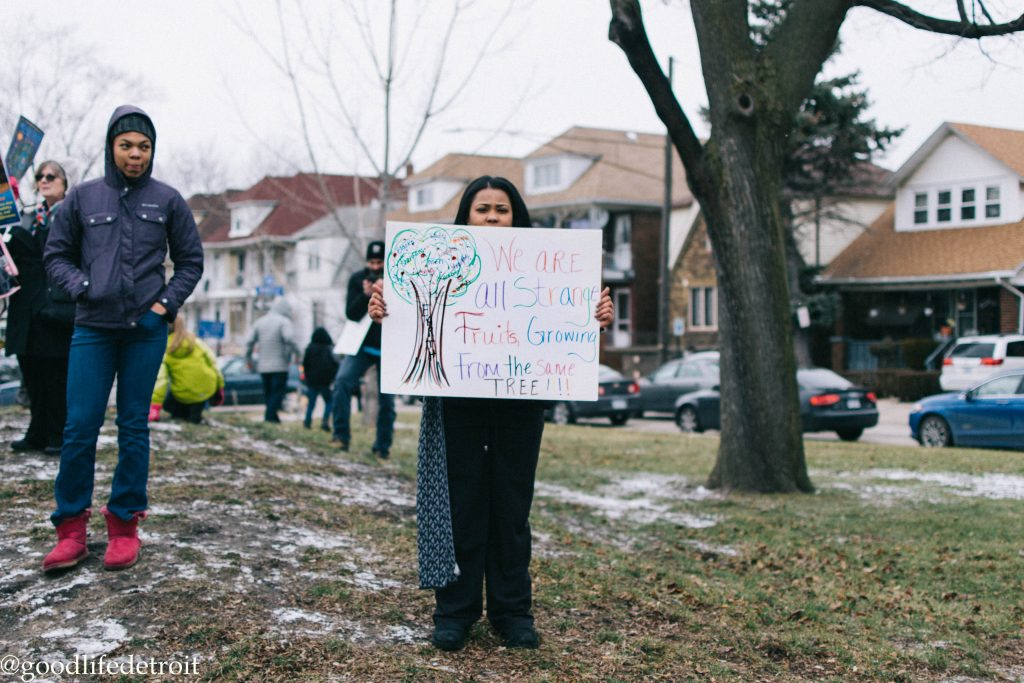 Protest Sign at the Hamtramck Peaceful Protest