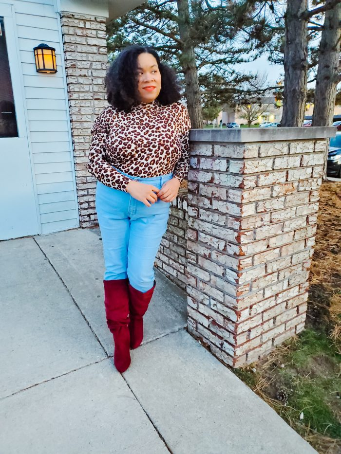 Five Ways to Stay Motivated During COVID (woman wearing fall fashion outfit)