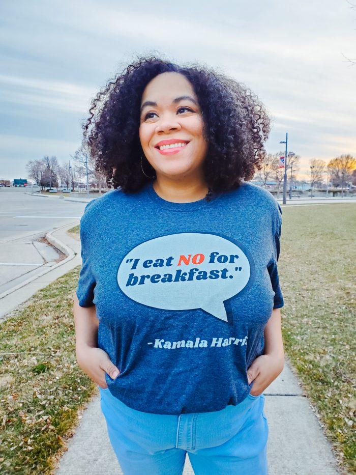 I eat no for breakfast. Kamala Harris quote