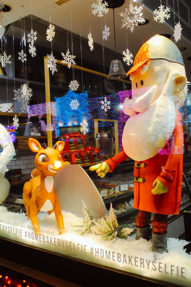 Classic Rudolph the Red-Nosed Reindeer Santa Claus Display