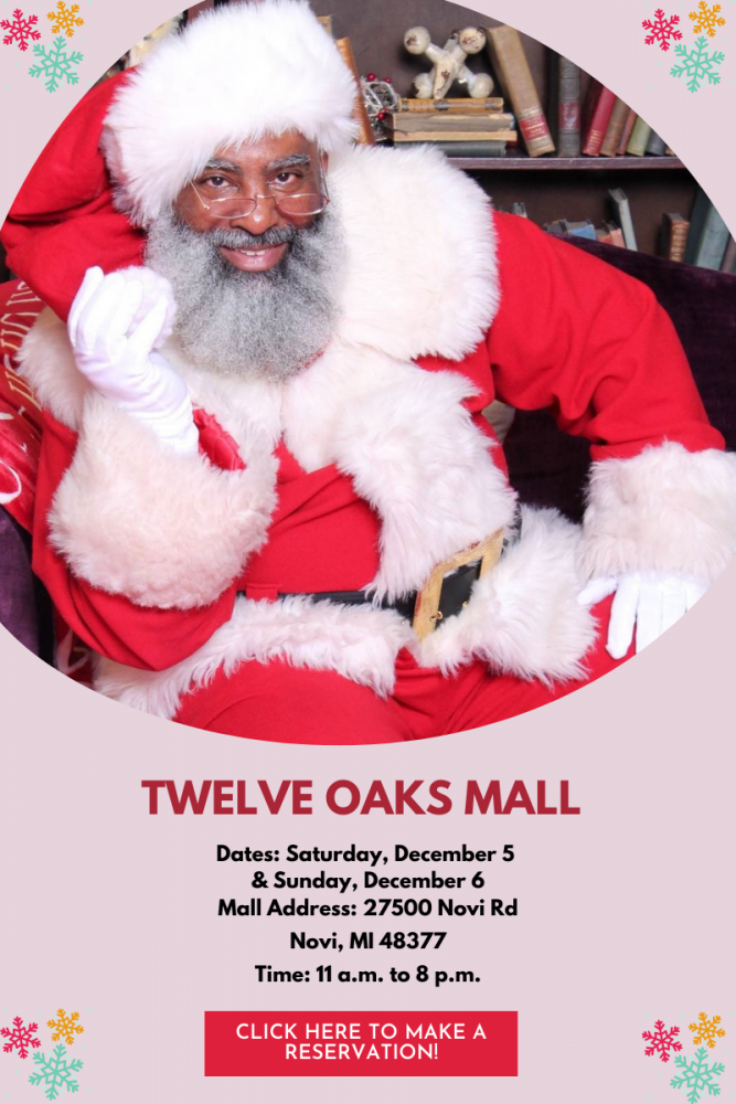 Book a Reservation for Pictures with Santa George at Great Lakes Crossing Outlets and Twelve Oaks Mall!