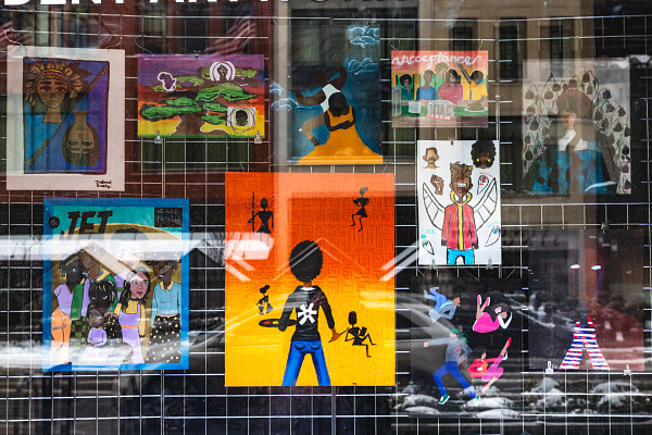 New Student Art Exhibit: Black Family Representation, Identity & Diversity located in Downtown Detroit on Woodward Avenue.