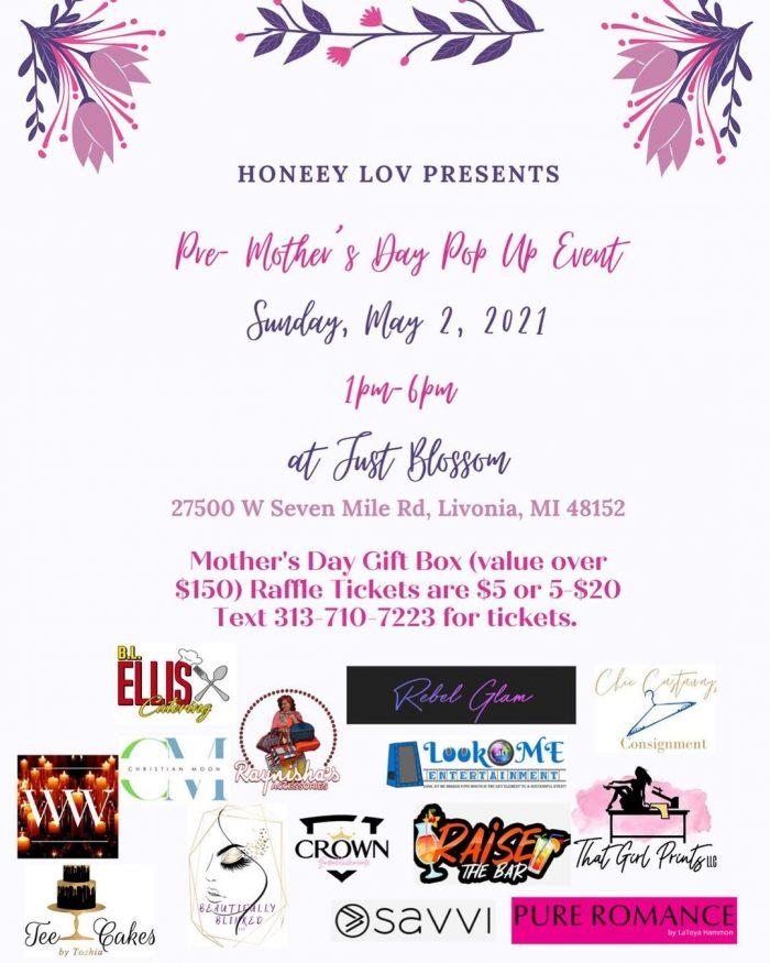 Honeey Lov Presents Pre-Mother's Day Pop Up Event in Metro Detroit