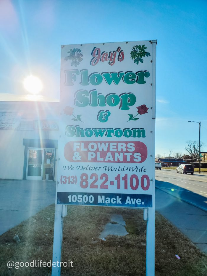 Jay's Flower Shop and Wholesale is owned by Mr. Jay Smith. Click here to learn more about Mr. Jay's Detroit flower business.