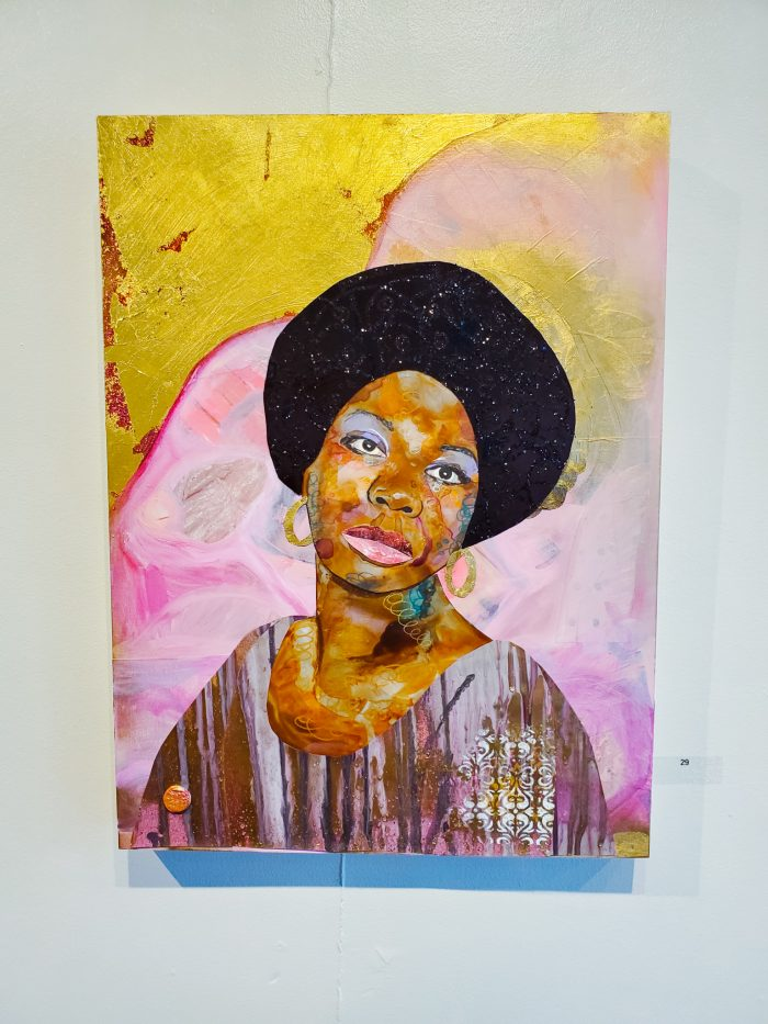 Nina Simone art by Denyse Couture at the Norwest Art Gallery in Detroit, Michigan