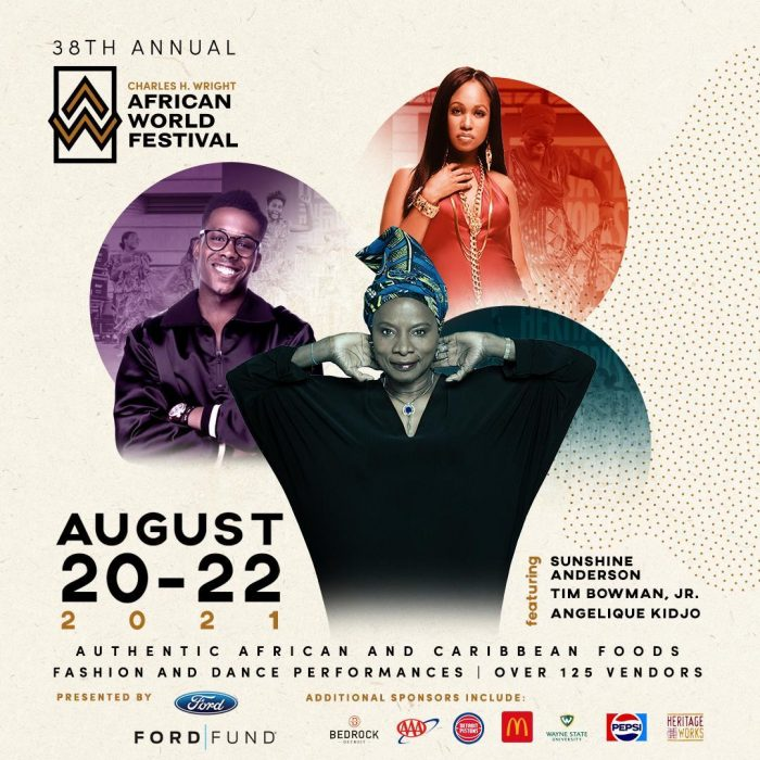 Special musical guests Sunshine Anderson, Tim Bowman, Jr. and Angelique Kidjo will perform at the 38th Annual African World Festival in Detroit, Michigan.