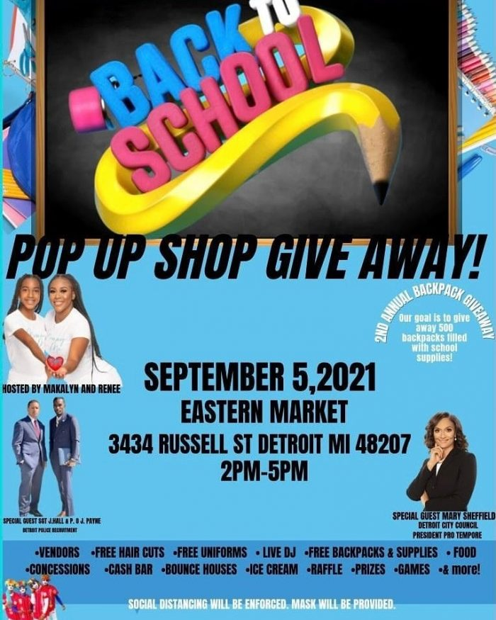 Detroit back-to-school events: Building Bosses Boutique and Mommy and Me Caring Hands is hosting an event on September 5, 2021.