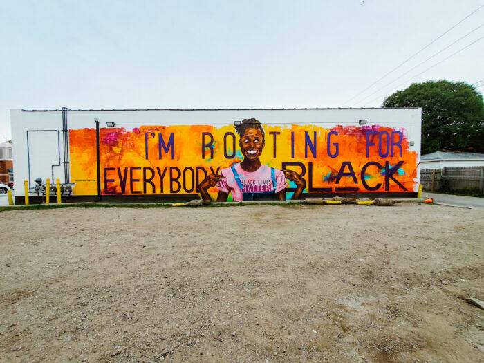 Issa Rae mural by Desiree Kelly in Detroit, Michigan