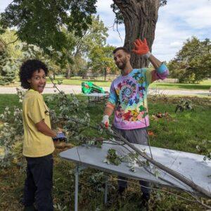 Sidewalk Detroit volunteers