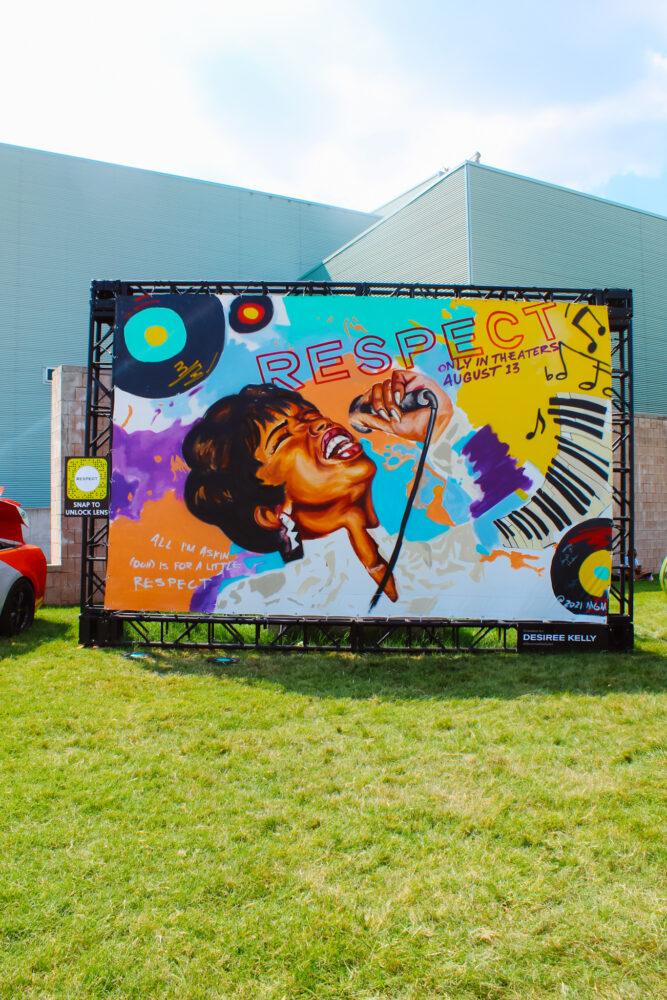 Aretha Franklin 'Respect' mural by Detroit artist Désirée Kelly