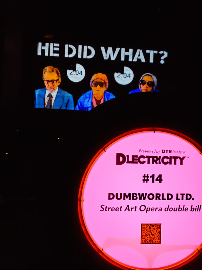 """""""Street Art Opera double bill"""" by DUMBWORLD LTD. at DLECTRICITY in Detroit."""