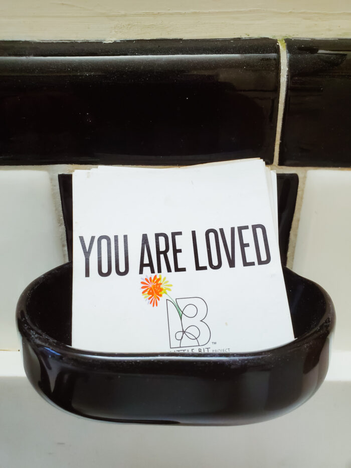"""""""You are loved."""" Photo from the art installation featured at Womxnhouse Detroit by Sabrina Nelson."""